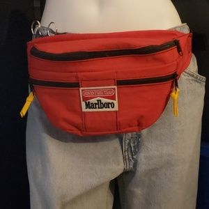 Vintage Marlboro fanny pack with canteen
